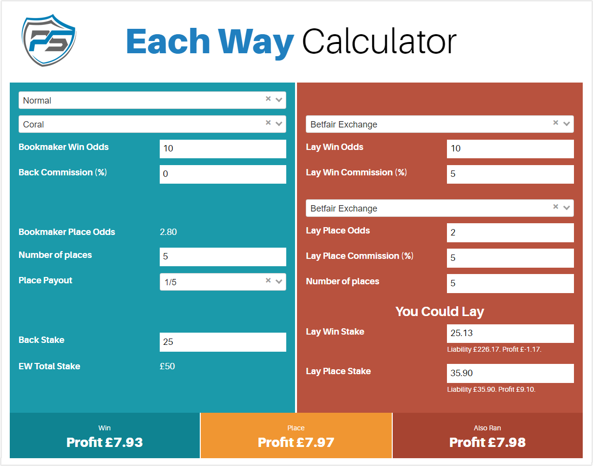 each way calculator