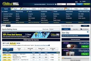 William Hill website screenshot