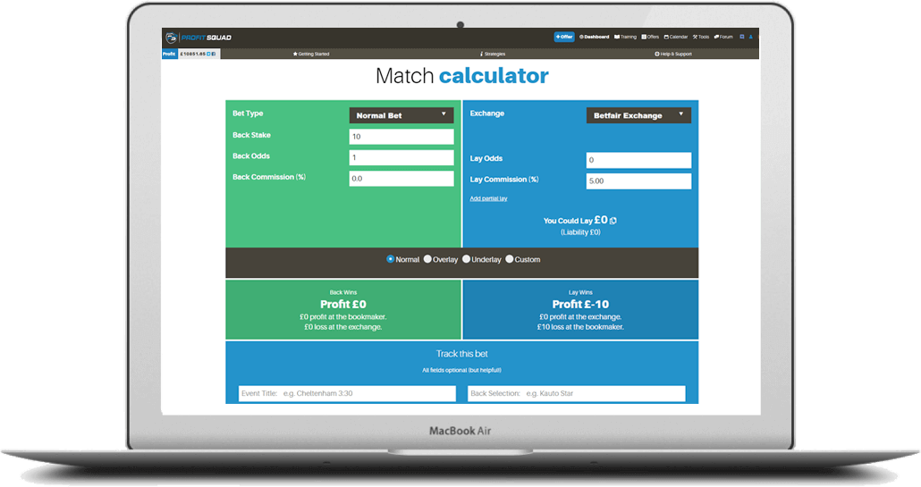 matched betting calculator