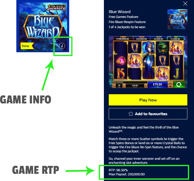 how to find the rtp of a game