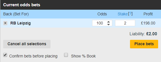 betfair exchange low stakes