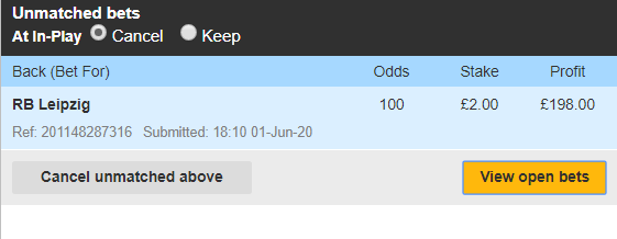 betfair unmatched bet